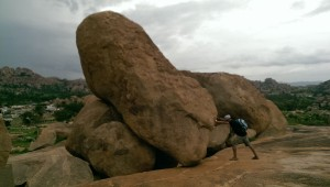Massive boulders in Hampi