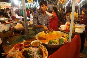 Street food, Durga Pooja in Kolkata