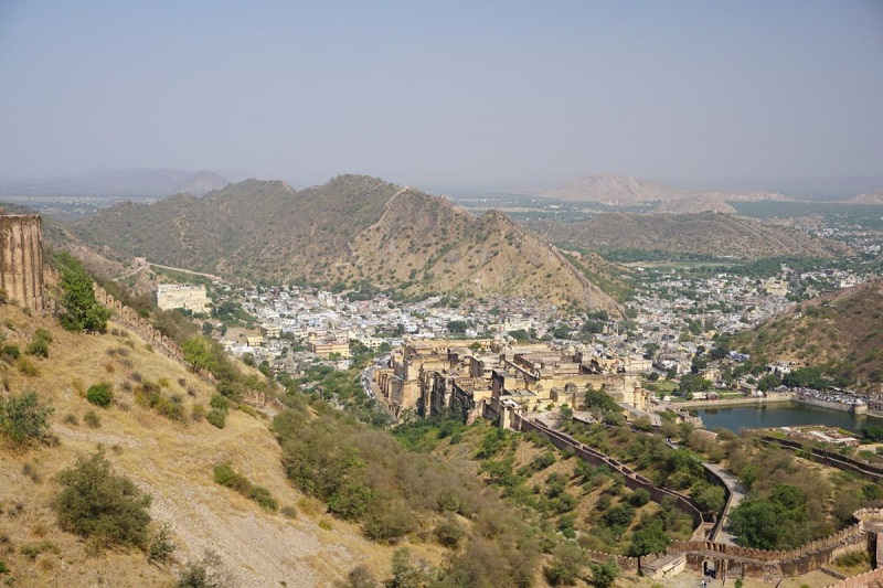 View of Amer from Jaigarh Fort