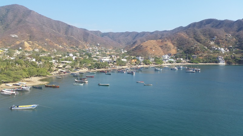 Taganga view from hill, Santa Marta