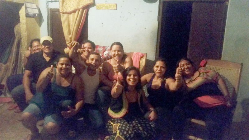 Partying with locals, Mompox, Colombia