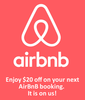 Enjoy 20% off on your next AirBnB booking. It is on us!