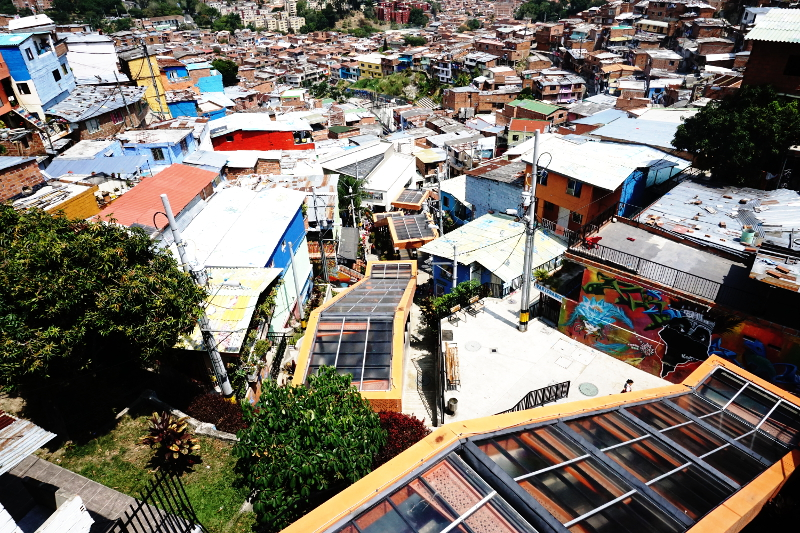 Escalators, Comuna 13, Slums of Medellin