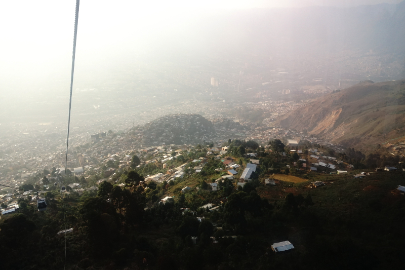Cable Car, Slums of Medellin
