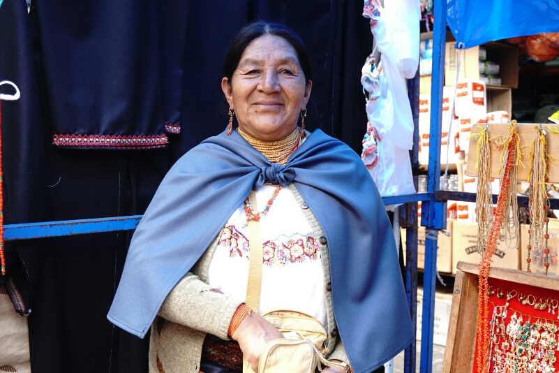 Native woman, Otavalo Market