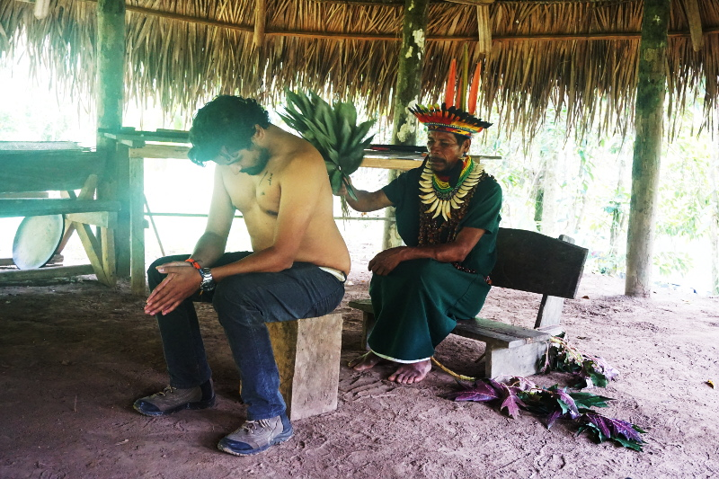 Cleansing ritual by shaman, Cuyabeno Reserve, Visit Amazon in Ecuador