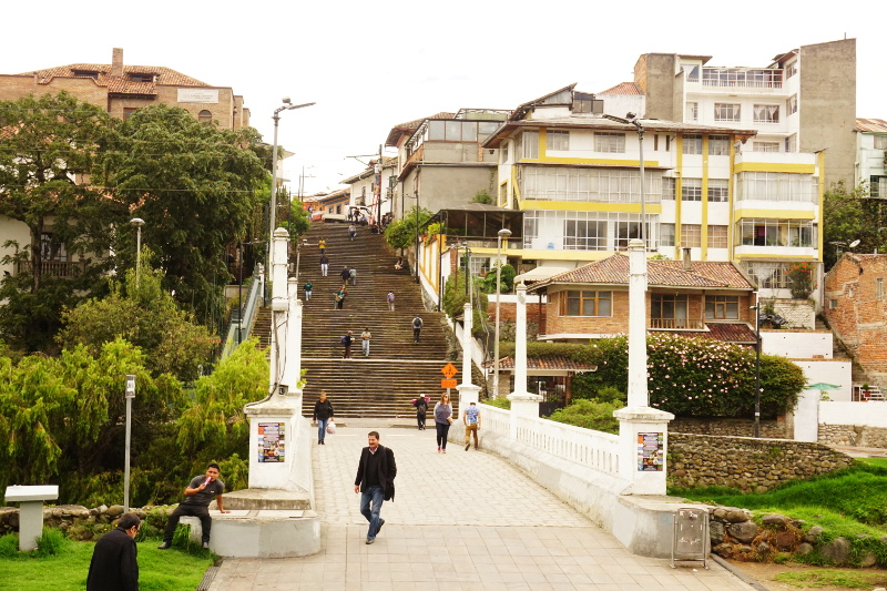 Stairs across the river, Cuenca
