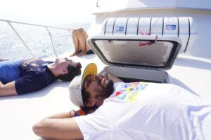 Sleeping on the boat, Bartolome Galapagos Islands