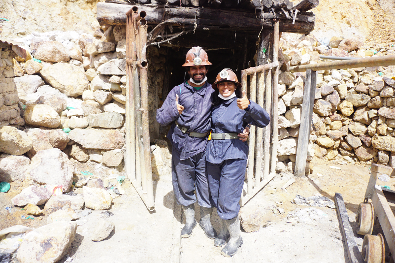 Outfit for the mines, Potosi