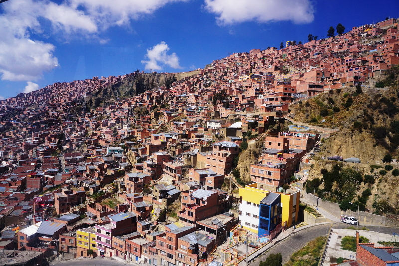 El Alto view from cable car, La Paz