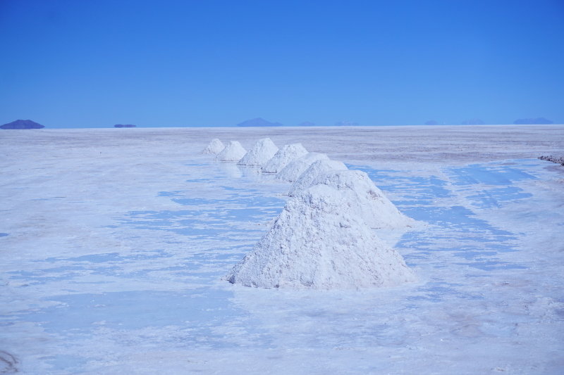Salt mounds, Salar de Uyuni