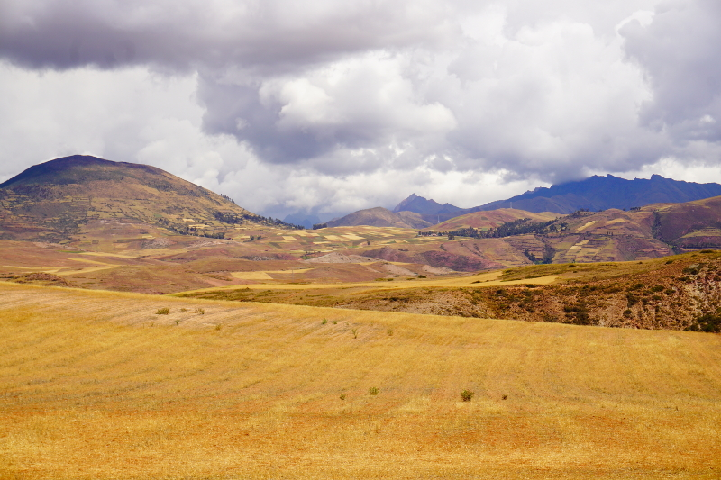 Hiking to Salineras, Sacred Valley, Peru
