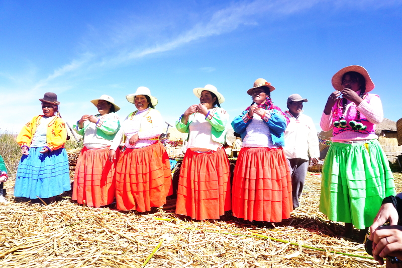 Traditional Ladies, Uros Islands, Puno