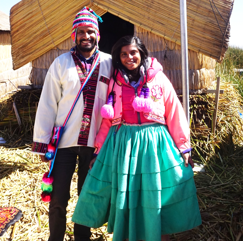 Traditional Dress, Uros Island, Puno