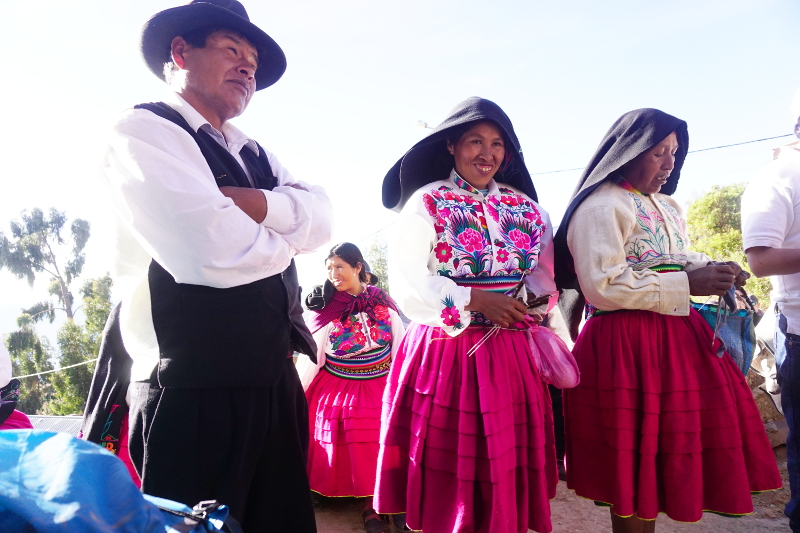 Traditional Dress, Isla Amantani, Lake Titicaca