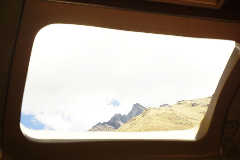 Train ride to Agua Calientes, Machu Picchu, Peru