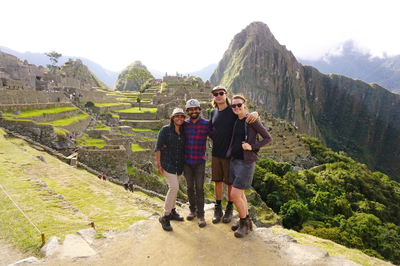 Group tour at Machu Picchu, Peru
